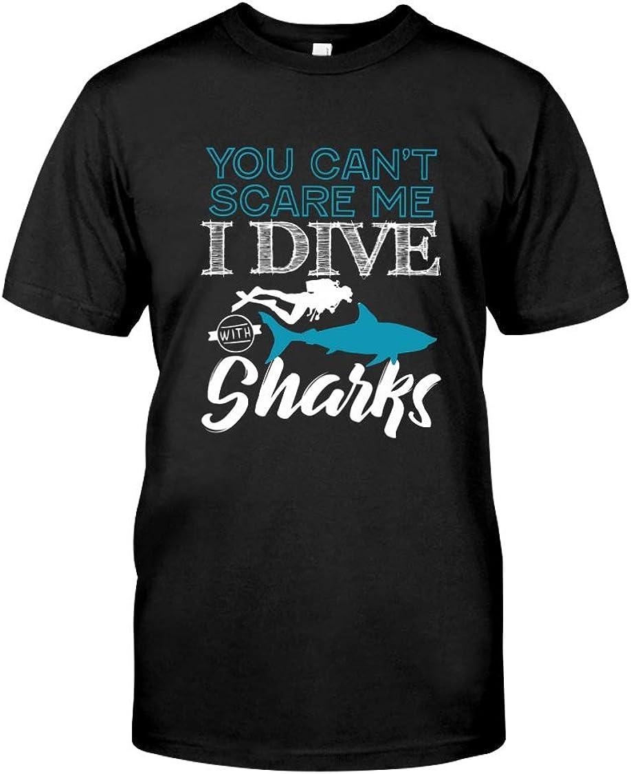 Scuba Diving Shirt I Dive with Sharks T Shirt Gift
