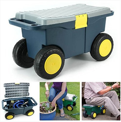 Removable Garden Tool Cart Seat 4 Wheels Plastic Tools Storage Container Scooter (Stores In Corona Ca)