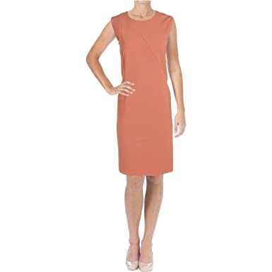 c4e7ce86 BOSS Hugo Demisana Sheath Dress, Lt/Past/RD - Orange - 16: Amazon.co.uk:  Clothing