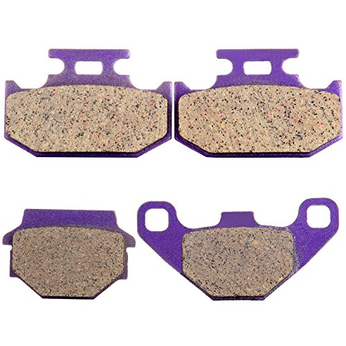 ROADFAR FA67 FA152 Carbon fiber Brake Pads Compatible for Kawasaki KDX200 1989 1990 1991 1992