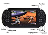 CZT 4.3 Inch 8GB Handheld Game Consolebuild in 1200+no-repeat games Video Game Console Support FC/NES,SFC/SNES/GB/GBC/GBA/SMC/SMD/SEGA Games MP3 MP5 Player Support Ebook Camera Recording (Black)