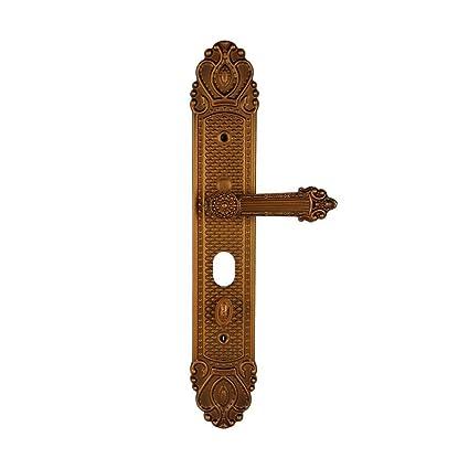 BiuTeFang Cerradura Puerta antirrobo Puerta Cerradura Zinc-Hierro Puerta manija Puerta Villa Puerta asa