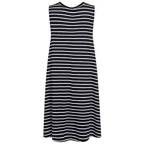 18a992553882 ROMWE Women s Casual T-Shirt Sleeveless Swing Dress Tunic Tank Top Dresses  high-quality