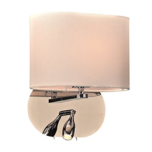 PLC Lighting 24216PC 1 Light Mademoiselle Collection Wall Sconce (One Wall Mademoiselle Light)
