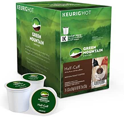 Green Mountain Coffee Keurig Single-Serve K-Cup Pods, Half-Caff Medium Roast Coffee, 24 Count
