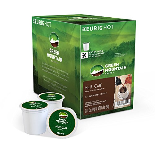 Green Mountain Coffee Half-Caff Keurig Single-Serve K-Cup Pods, Medium Roast Coffee, 24 Count