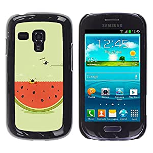 MOBMART Carcasa Funda Case Cover Armor Shell PARA Samsung Galaxy S3 MINI 8190 - Swimming In A Watermelon Pool