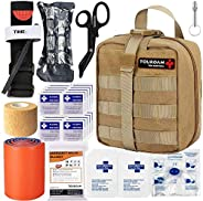 TOUROAM IFAK Molle Trauma Kit, Emergency Survival First Aid Kit, Military Tactical Admin Pouch EMT, Bug Out Ba