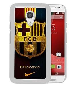 Motorola Moto G (2nd generation) Case,Fc Barcelona (2) White For Motorola Moto G (2nd generation) Case