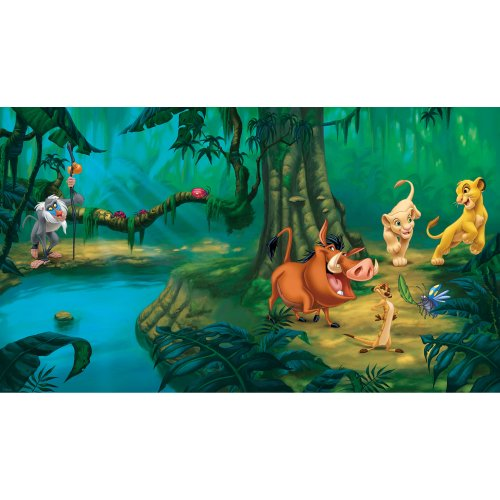 RoomMates Lion King Chair Rail Prepasted, Removable Wall Mural