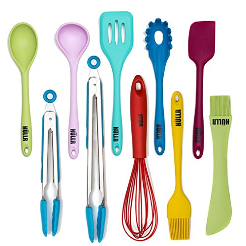HULLR 10-Piece Silicone Kitchen Utensils Cooking Tool Set