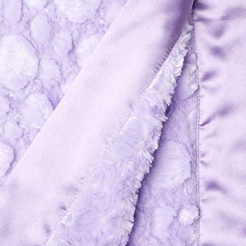 My Blankee Luxe Stone Throw Blanket with Flat Satin Border, Lilac, 59'' X85'' by My Blankee (Image #1)