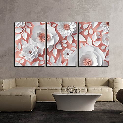 wall26 Canvas - Digital 3D Paper Flower - Wall Art Decor - 24