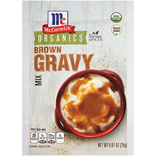 Organic Brown Gravy - McCormick Organics Brown Gravy Mix, 0.87oz, Pack of 4
