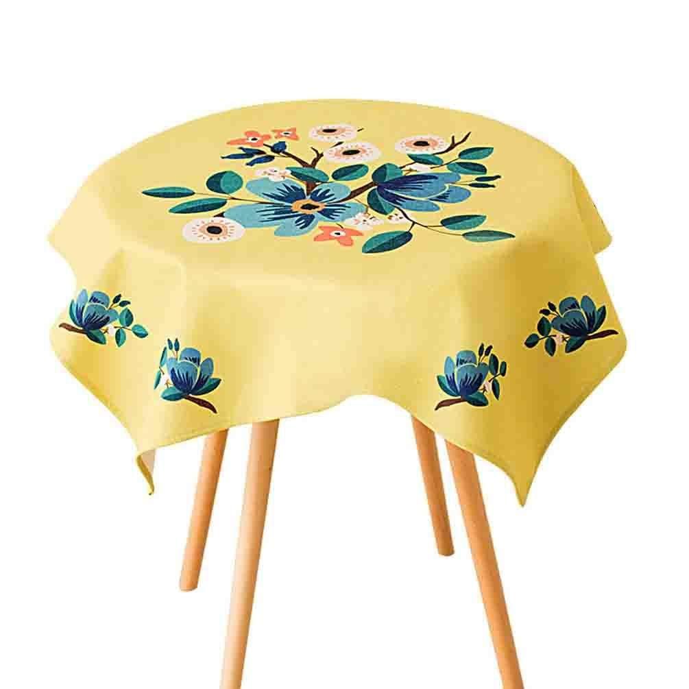 QYM 牧歌的な生地布テーブルクロスクリエイティブコーヒーテーブル防塵布ダイニングテーブルクロス (Color : E)  E B07S6LB56Q