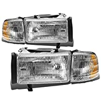 DNA motoring HL-OEM-DR94-4P, OEM style Headlight Assembly (Driver and Passenger Side)