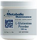 Metabolic Maintenance - L-Glutamine Powder - 1000 mg, Amino Acid Support for Gut Health, 500 Grams