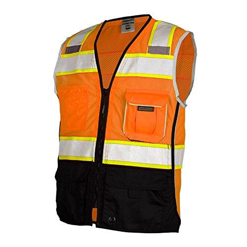 ML Kishigo Class 2 Black Series Vest, Orange, Large by ML Kishigo (Image #1)