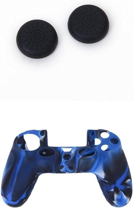 1 Set Tapas Joystick Caps +Funda Silicona Case Para Sony PlayStation 4 PS4 Mando: Amazon.es: Videojuegos