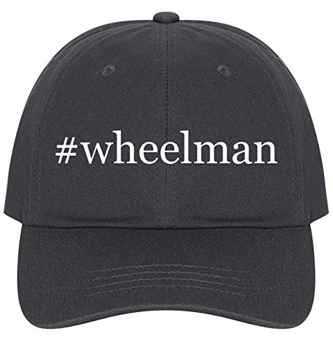 (The Town Butler #Wheelman - A Nice Comfortable Adjustable Hashtag Dad Hat Cap, Dark Grey)