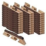 Yibuy Wood Color Maple & Ebony 6 String Banjo Bridge Set of 50