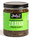 Zesty Z 2-Pack Mediterranean Za'atar (Zaatar/Zatar) Spread & Condiment, 7.5 oz (Pack of 2)