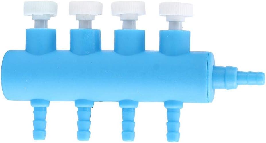 Acquario Aria Flusso Splitter Pesce Serbatoio Aria Valvola di Controllo di Plastica Acquario di Ossigeno Distributore Pesce Acquario Pompa dAria Accessori