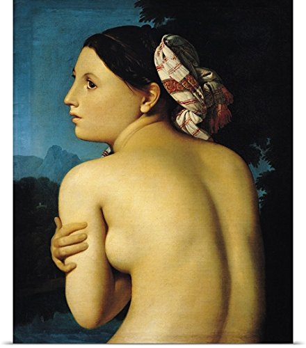 Jean Auguste (1780-1867) Ingres Poster Print entitled Female nude, 1807 (oil on canvas)