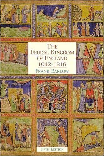 Book The Feudal Kingdom of England 1042-1216 by Barlow, Frank (1999)