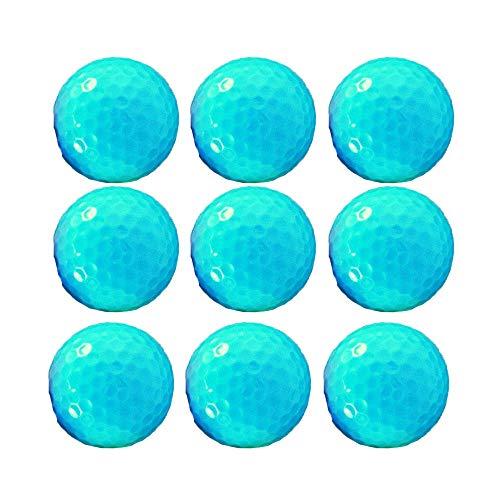 Sviper-sport Golf Balls Set Soft Golf Balls Gift Set of 10 Synthetic Rubber Bulk Golf Balls for Men Women Beginners,Blue (Color : C1, Size : Diameter 42.6mm) ()