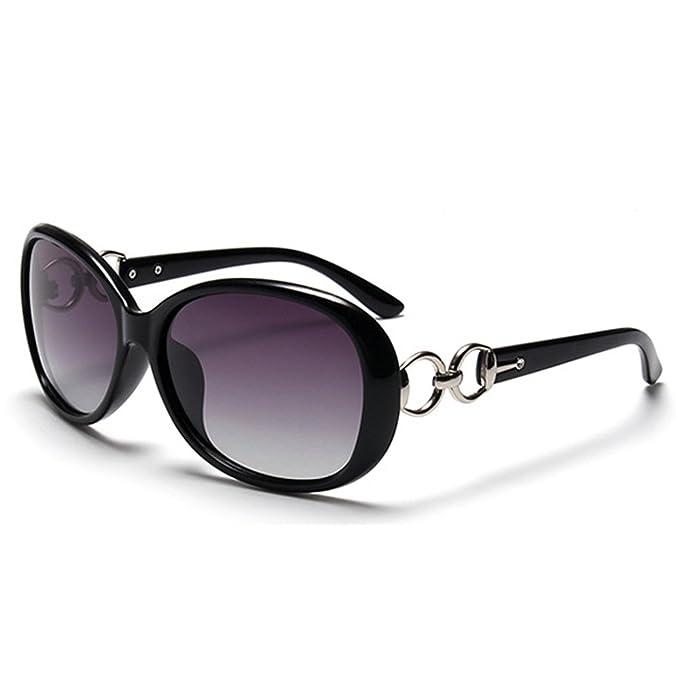 BLDEN Gafas de Sol Polarizadas Mujer, Moda Casual Estilo Gafas de Sol Oval Elegante UV