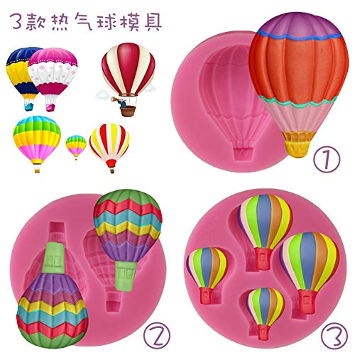 DIY 3D Hot Air Balloon Party Theme Cake Moulds Fondant Silicone Bake Mold Cupcake Soap Chocolate Decoration Baking Tool ()