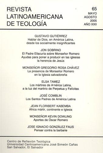 Revista Latinoamericana De Teologia PDF