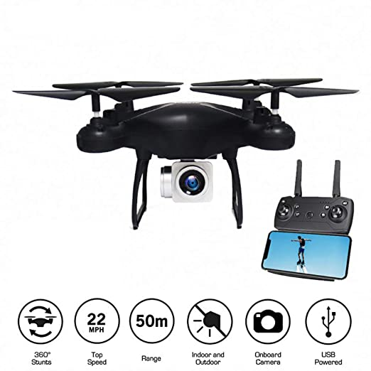 Drone aéreo, 360-grado Rollover WiFi FPV Drone y 720P Gran Angular ...