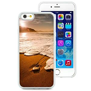 NEW Unique Custom Designed iPhone 6 4.7 Inch TPU Phone Case With Morning Beach Waves_White Phone Case