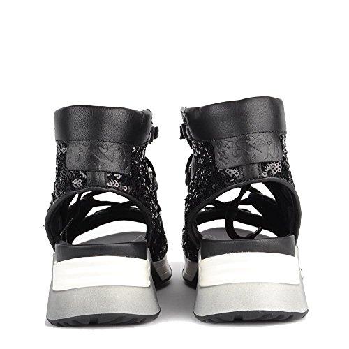 Liv Ash Negro Zapatos Mujer Zapatillas RO6fq