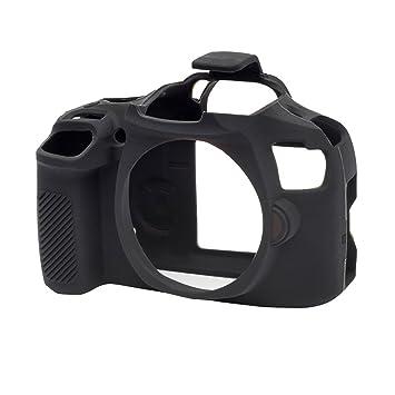 EasyCover Carcasa de Silicona (Cámara móvil, cámara Funda, Handytaschenmanufaktur Cover Skin) para Canon EOS 1300d (Negro)