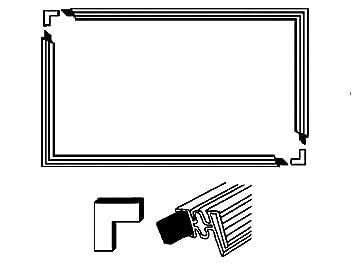 Super Türdichtung Set Universal Kühlschrank 1300x700mm: Amazon.de: Küche ZW32