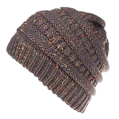 DongDong Fashion Hat, Trendy Warm Oversized Chunky Soft Cable Knit Slouchy Beanie Cap