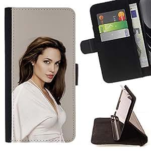 Momo Phone Case / Flip Funda de Cuero Case Cover - Jolie Actriz Sexy;;;;;;;; - Sony Xperia Z5 5.2 Inch (Not for Z5 Premium 5.5 Inch)