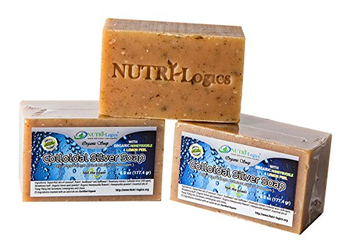nutri-logics-best-certified-organic-silver-soap-antibacterial-6-ounce-bar-1-bar-100-natural-and-herb