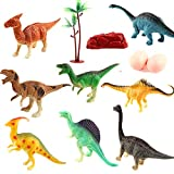 "HL Pet Dinosaur Toys - 6"" Kids Realistic Toy Educational Dinosaur Figures Playset, Pack of 8 Jungle Animal Figures for Kids and Toddler Education"