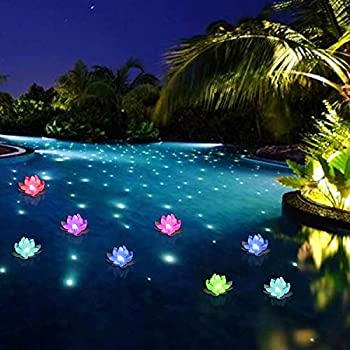Amazon Com Floating Pool Lights Led Pool Lights Color Changing