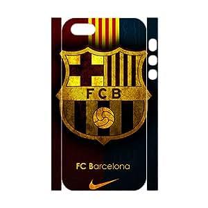 Custom FC Barcelona Logo Phone Case Plastic Durable Snap On iPhone 5S 3d Case