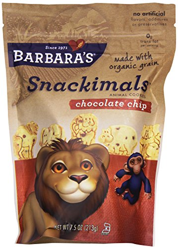 Barbara's Bakery, Chocolate Chip Snackimals Animal Cookies, 7.5 oz