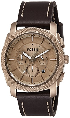 Fossil Men's FS5075 Machine Chronograph Leather Watch – Dark Brown by Fossil (Image #6)