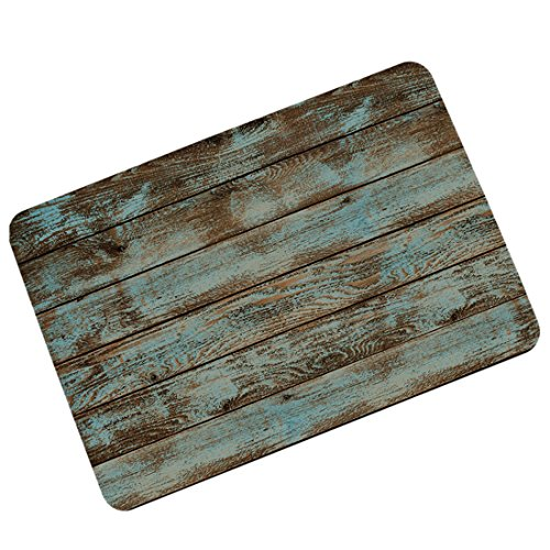 Cheap  Pinji Funny Doormat Rustic Old Barn Wood Non-slip Rubber Entrance Mat Floor..