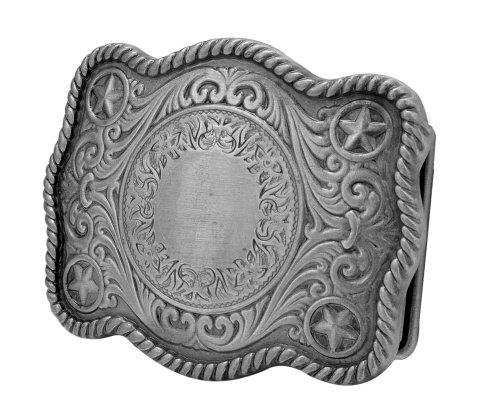 Buckle Rage Adult Womens Classic Intricate Old West Cowgirl Belt Buckle Silver