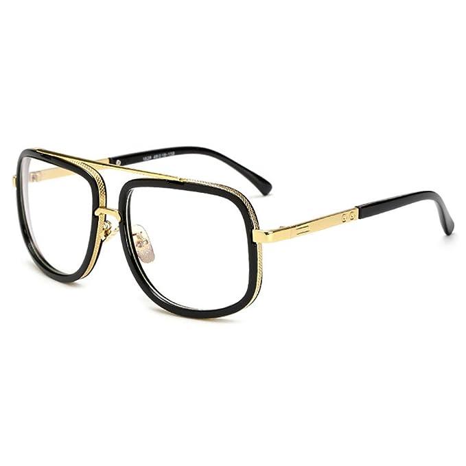 Gafas retro de metal con diseño peculiar. Opción de múltiples colores.