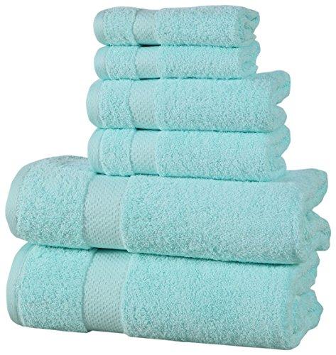 Affinity Home Collection ESP6PCTWL-AQA 6 Piece Elegance Spa Luxurious Cotton 600 GSM Towel Set, Aqua